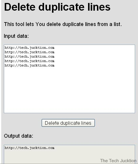 delete duplicate lines from text