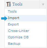 wordpress tools import
