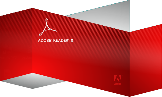 adobe reader x logo