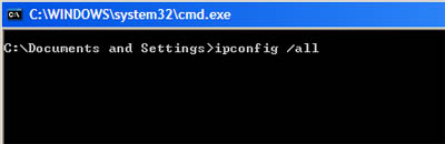 windows ipconfig all