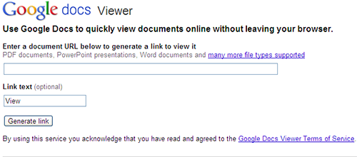 google docs viewer - view documents online