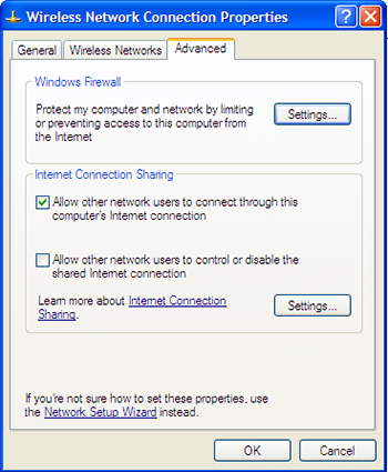 Advance Wireless Network Connection Properties