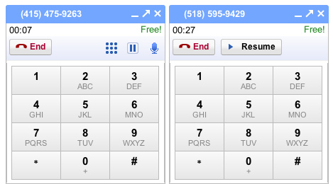 multiple calls on gmail