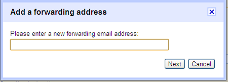 adding new address for forwarding