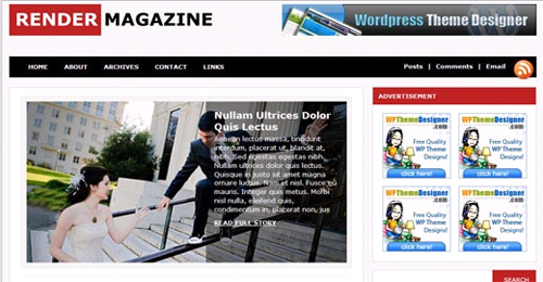 render magazine free wordpress theme