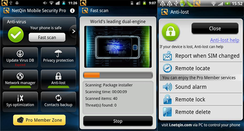 android antivurs netqin security