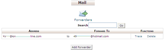 email forwarding in cpanel