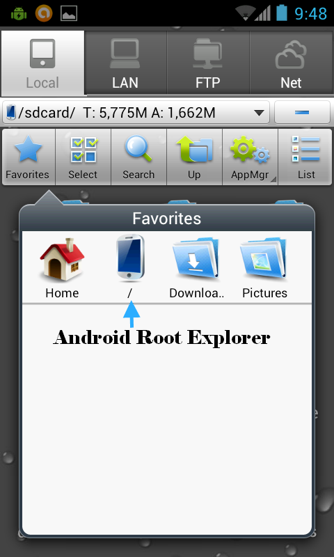 Android Root Explorer