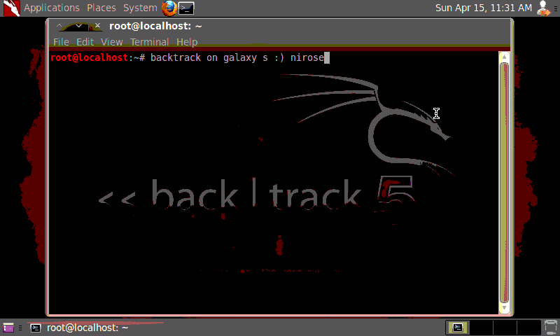 Backtrack 5 on Samsung Galaxy S