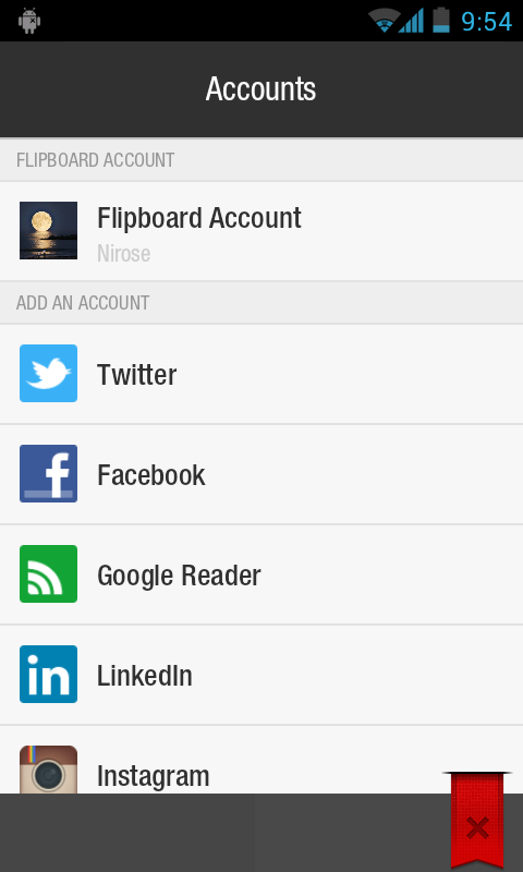 Flipboard Social Integration