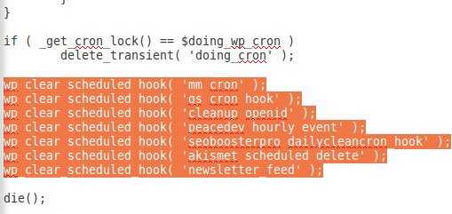 wp cron cleanup