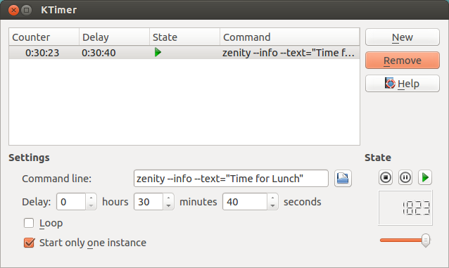 ktimer with zenity notification