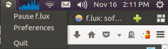 ubuntu 13.10 flux applet