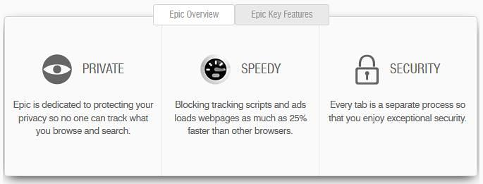 epic browser main features