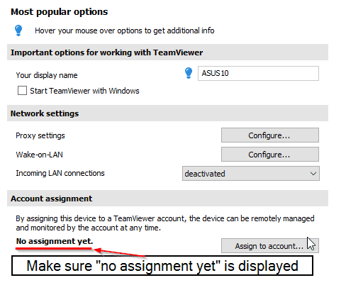 check teamviewer unattended access