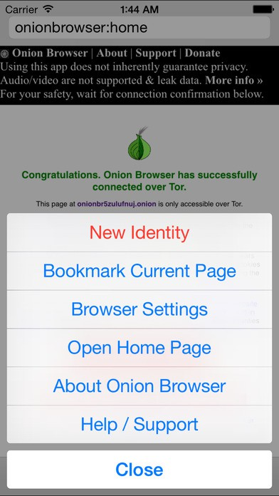 free tor browser for iPhone screen