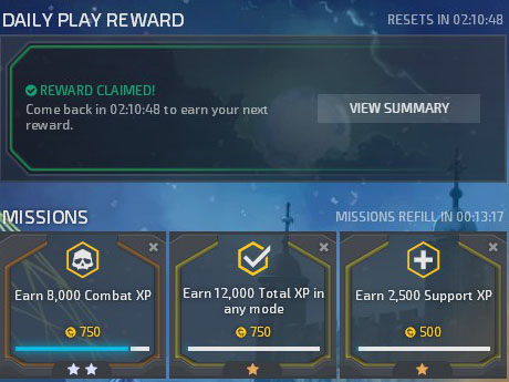 DirtyBomb Shooter Daily Missions