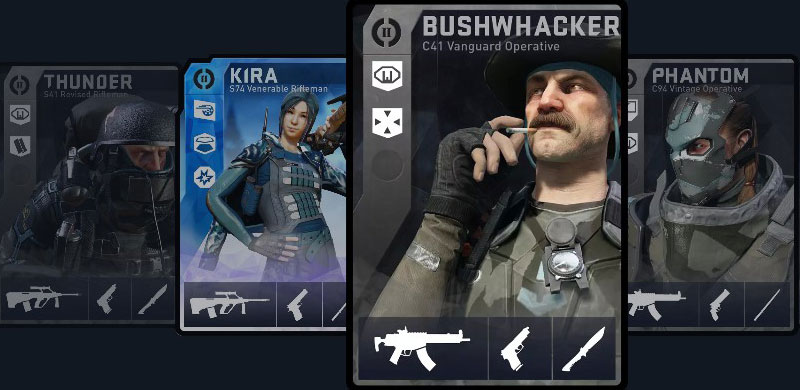 DirtyBomb Loadout Cards