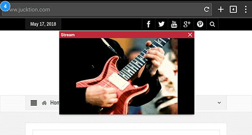 Stream youtube floating player interface
