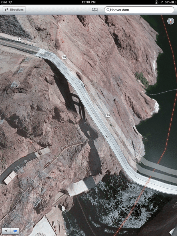Roads to Hoover Dam suddenly drops