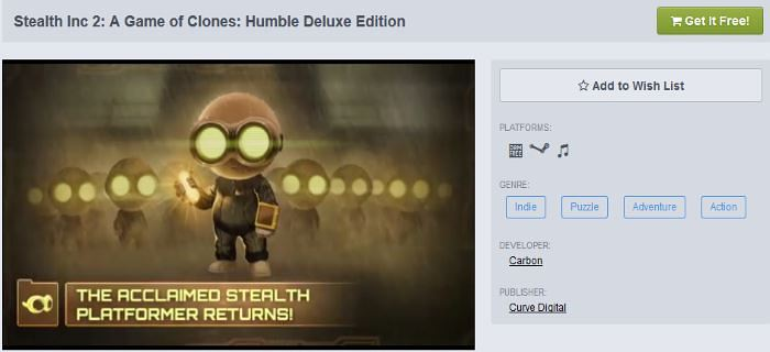 stealth inc 2 humble deluxe edition
