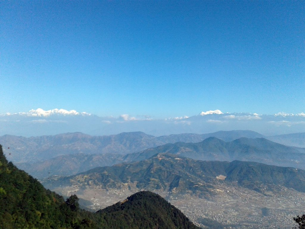 Kathmandu through chandragiri hills