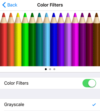 iOS Colour Filters