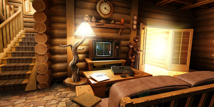 My Log Home 3D Live wallpaper Screen