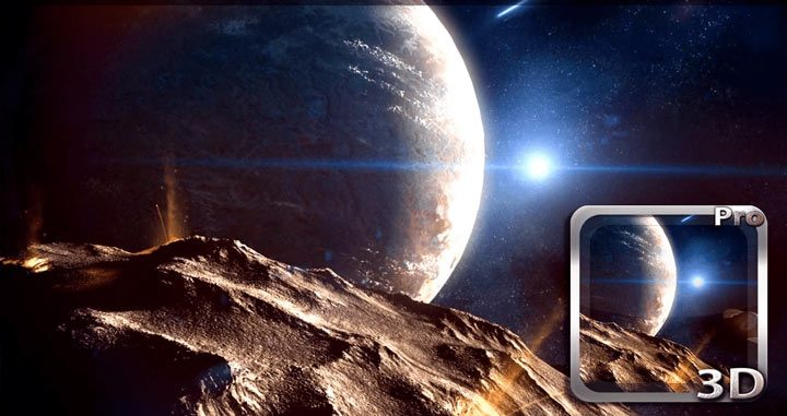 Planetscape 3D Live Wallpaper app gone free