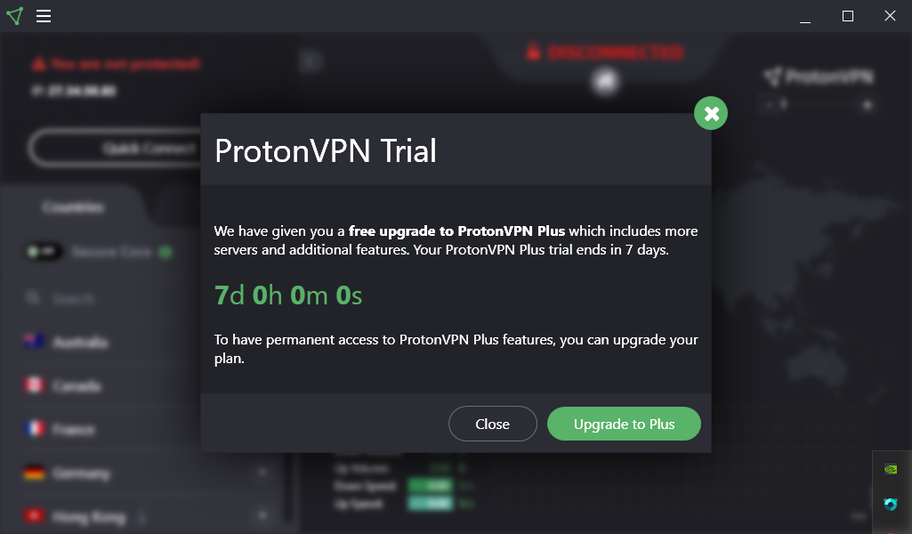 ProtonVPN review Secure Core Trial