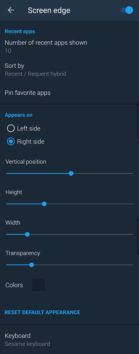 Sesame shortcuts Android