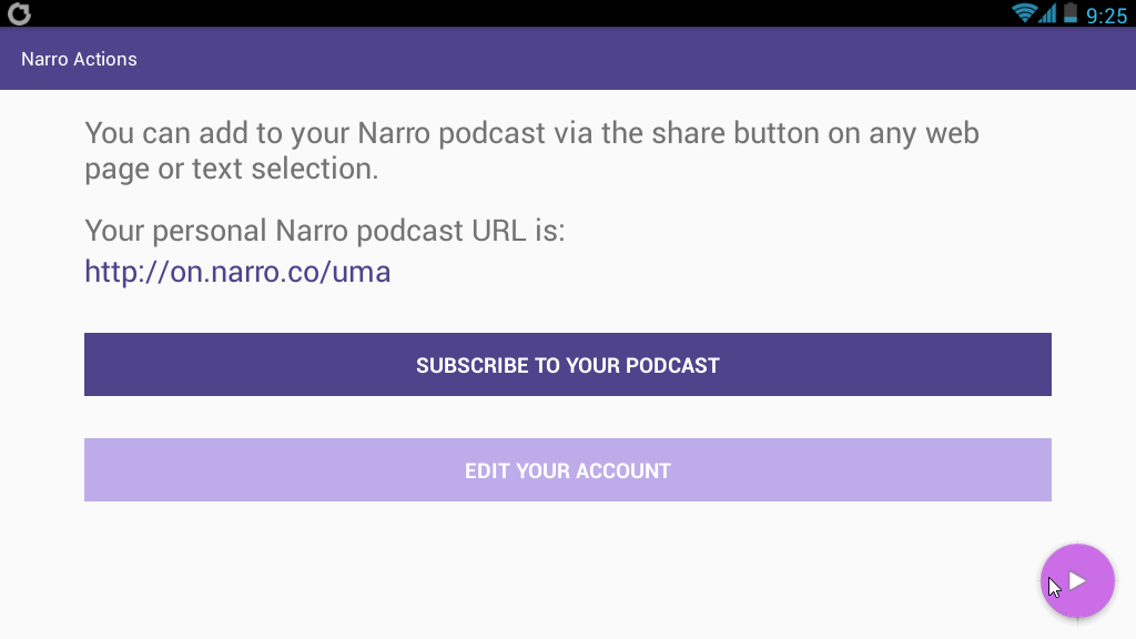 Narro article to audio android app