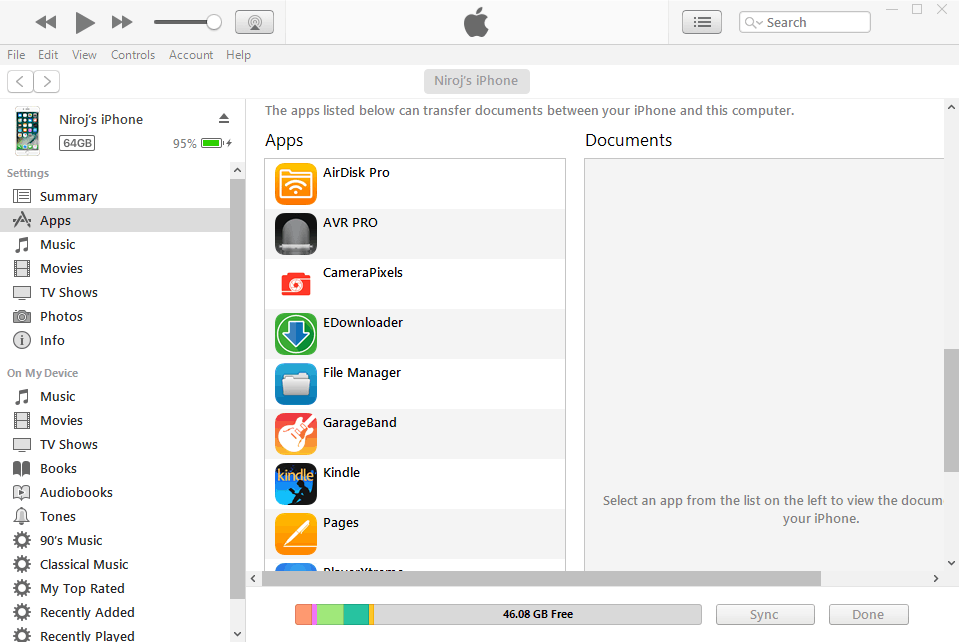 iTunes App Management