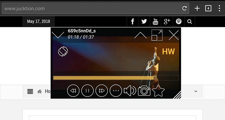 Lua youtube floating player interface